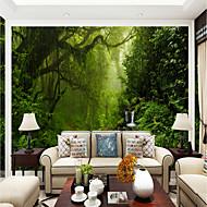 billige Tapet-Trær / Blader Art Deco 3D Hjem Dekor Moderne Rustikk Tapetsering, Lerret Materiale selvklebende nødvendig Veggmaleri, Tapet