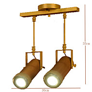 cheap Chandeliers-American Country Hemp Bamboo Coffee Personality Hall Ceiling lamps 2