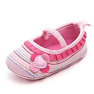 cheap Baby Shoes-Baby Shoes Fabric Spring Fall Crib Shoes First Walkers Comfort Flats Appliques Gore for Casual Outdoor White Purple Brown Pink Khaki