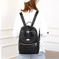 cheap Backpacks-Women's Bags Oxford Cloth Backpack Zipper Black
