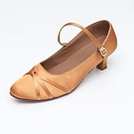 billige Moderne sko-Dame Moderne sko Syntetisk / Sateng Sandaler / Høye hæler / Joggesko Tvinning Kubansk hæl Kan spesialtilpasses Dansesko Svart / Mandel
