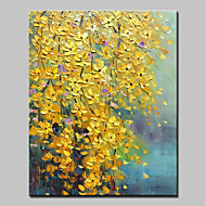 cheap Oil Paintings-Hand-Painted Floral/Botanical Vertical, Modern Canvas Oil Painting Home Decoration One Panel