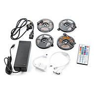 billige -ZDM® 4x5M Lyssæt 60PCS/Meter lysdioder 1 12V 6A adapter RGB Chippable Selvklæbende 12V 1set