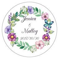 voordelige Stickers, labels & tags-Bloemen/Botanische Tuin Thema Bloemen Thema Stickers, Labels & Tags - 10 Rond Vierkant Cirkelvormig Unieke bruiloftsdecoratie Sticker van