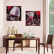 baratos -Tela de impressão Modern,2 Painéis Tela Estampado Decoração de Parede Decoração para casa