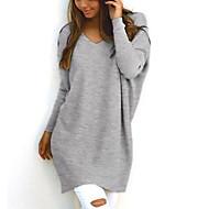 Žene Dugih rukava Pullover Jednobojni V izrez