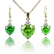 Γυναικεία Κοσμήματα Σετ Επιχρυσωμένο Κλασσικό, Μοντέρνα Περιλαμβάνω Κρεμαστά Κολιέ Πράσινο Για Δώρο Καθημερινά