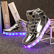 cheap Girls' Shoes-Girls' Shoes Customized Materials Patent Leather Winter Spring Light Up Shoes Comfort Sneakers Walking Shoes LED Hook & Loop Lace-up for