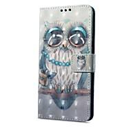 billiga Mobil cases & Skärmskydd-fodral Till Vivo X20 Plus X20 Korthållare Plånbok med stativ Lucka Magnet Mönster Fodral Katt Hårt PU läder för vivo X20 Plus vivo X20
