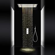 tanie Baterie prysznicowe-Bateria Prysznicowa - Współczesny Chrom Budowa prysznica Zawór ceramiczny