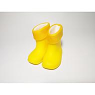 Meisjes Schoenen PVC Leder Lente / Herfst Comfortabel / Regenlaarzen Laarzen voor Geel / Blauw / Roze