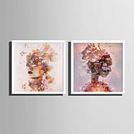 billige Innrammet kunst-Mennesker Dyr Tegning Veggkunst,PVC Materiale med ramme For Hjem Dekor Rammekunst Stue Soverom Kjøkken Spisestue Barnerom Kontor