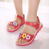 tanie Obuwie dziewczęce-Dla dziewczynek Obuwie Derma Wiosna / Lato Comfort Sandały / Mokasyny i pantofle na Orange / Czerwony / Różowy
