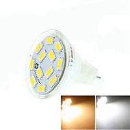 billige Bi-pin lamper med LED-SENCART 5W 3500/6000/6500 lm GU4(MR11) LED-spotpærer MR11 12 leds SMD 5730 Mulighet for demping Dekorativ Varm hvit Kjølig hvit Naturlig