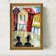 halpa Tulosteet-Kehystetty öljymaalaus Abstrakti Öljymaalaus Wall Art, Alumiiniseos materiaali Frame Kodinsisustus Frame Art Olohuone