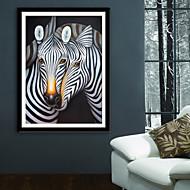 baratos Quadros com Moldura-Animais Fantasia Ilustração Arte de Parede,PVC Material com frame For Decoração para casa Arte Emoldurada Sala de Estar Quarto Cozinha