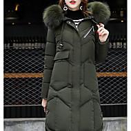 Dame I-byen-tøj Lang Vatteret - Ensfarvet