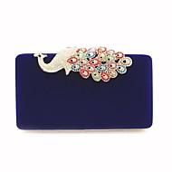 baratos Clutches & Bolsas de Noite-Mulheres Bolsas Veludo Bolsa de Mão Apliques Preto / Vermelho / Azul Real