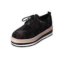 お買い得  レディースオックスフォードシューズ-レディース 靴 PUレザー 秋 コンフォートシューズ オックスフォードシューズ フラットヒール ラウンドトウ のために カジュアル ブラック パープル グリーン
