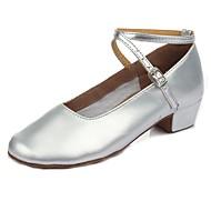 billige Moderne sko-Barns Dansesko Lakklær Høye hæler Lav hæl Kan spesialtilpasses Dansesko Sølv