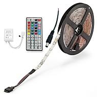 billiga Belysning-ZDM® 5m Ljusuppsättningar 300 lysdioder 2835 SMD 1 44Kör fjärrkontrollen / 1 AC-kabel RGB Klippbar / Vattentät / IP65