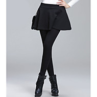 Žene Crn Tamno siva Sive boje Poliester Jednobojni Srednje Jedna boja Legging