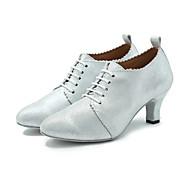 billige Moderne sko-Moderne Kunstlær Joggesko Trimmer Stiletthæl Svart Sølv Kan spesialtilpasses