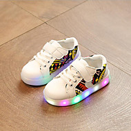 tanie Obuwie chłopięce-Dla chłopców Buty Syntetyczny Wiosna Lato Świecące buty Buty do nauki chodzenia Comfort Tenisówki Wzór zwierzęcy LED Haczyk i pętelka Gore