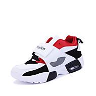 billige -Herrer Sneakers Komfort Ruskind Forår Vinter Afslappet Komfort Snøring Flad hæl Sort Rød Blå Flad