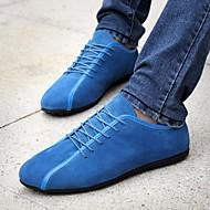olcso -Férfi cipő Fordított bőr Tavasz Ősz Kényelmes Tornacipők mert Hétköznapi Fekete Sötétkék Kék