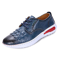 baratos Sapatos Masculinos-Mulheres Sapatos Couro Ecológico Primavera / Outono Conforto Rasos Sem Salto Branco / Marron / Azul