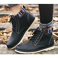 baratos Sapatos Masculinos-Homens Coturnos Couro Ecológico Primavera / Outono Conforto Botas Botas Curtas / Ankle Preto / Amarelo / Azul