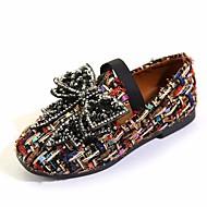 baratos Sapatos de Menina-Para Meninas Sapatos Tecido Primavera Conforto Mocassins e Slip-Ons para Preto / Bege