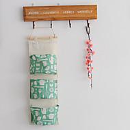 billige Kroker-tre lommeposer, bomullsveske hengende oppbevaringspose, zakka stil nordisk enkel hengende veske