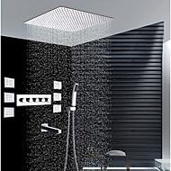 tanie Baterie prysznicowe-Bateria Prysznicowa - Współczesny Chrom Montaż na ścianie Zawór ceramiczny / Mosiądz