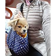 Pas ruksak Ljubimci Prijevoznici Prijenosno Na točkice Dark Blue Crvena Plava