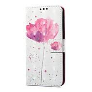 billiga Mobil cases & Skärmskydd-fodral Till Huawei P9 lite mini Korthållare Plånbok med stativ Lucka Magnet Mönster Fodral Blomma Hårt PU läder för P9 lite mini Huawei