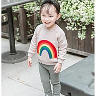 billige Hættetrøjer og sweatshirts til babyer-Baby Pige Bluse Regnbue Langærmet Normal Blå Lyserød Lysebrun