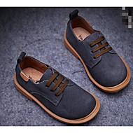 Недорогие -Мальчики обувь Натуральная кожа Нубук Весна Осень Удобная обувь Туфли на шнуровке для Повседневные Черный Синий Верблюжий
