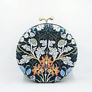 baratos Clutches & Bolsas de Noite-Mulheres Bolsas Linho Bolsa de Festa Detalhes em Cristal / Bordado Vermelho Preto / Vinho / Azul Real