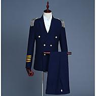 odijela Normalne dužine Vintage Klub Izlasci Geometrijski oblici V izrez Proljeće Poliester