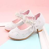 Djevojčice Cipele Umjetna koža Proljeće Jesen Sitni pete za mlade Udobne cipele Cipele na petu za Kauzalni Pink Pink