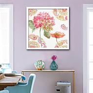 baratos Quadros com Moldura-Botânico Floral/Botânico Ilustração Arte de Parede,PVC Material com frame For Decoração para casa Arte Emoldurada Sala de Estar Quarto