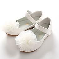 お買い得  フラワーガールシューズ-女の子 靴 PUレザー 春 / 秋 コンフォートシューズ / アイデア / フラワーガールシューズ フラット アップリケ / 面ファスナー のために ホワイト / ピンク / 結婚式 / パーティー