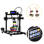 cheap 3D Printers-Flsun I3 DIY 3D Printer kit Large Printing Area 300*300*420mm 3.2 Inch Touch Screen Dual Extruder