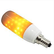 billige Kornpærer med LED-1pc 3W 250-280lm E14 G9 LED-kornpærer 76 LED perler SMD 2835 Flame Effect Gul 85-265V