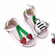 baratos Sapatos de Menina-Para Meninas Sapatos Couro Verão Conforto Sandálias para Branco / Amarelo