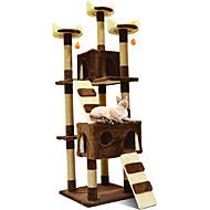 Недорогие Товары для животных-Кошка Дома Дерево Выцарапывание Животные Подкладки Однотонный Мода Прыжки Многослойный Мягкий Складной Подруга Gift Офис