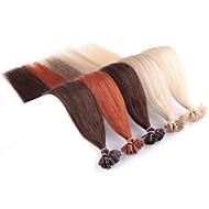 Χαμηλού Κόστους Neitsi®-Neitsi Τούφα / Άκρη U Επεκτάσεις ανθρώπινα μαλλιών Ίσιο Ombre Εξτένσιον από Ανθρώπινη Τρίχα Φυσικά μαλλιά Γυναικεία - Καστανό / Φράουλα Ξανθιά Ξανθό του Μελιού / Platinum Blonde λευκό Ξανθιά