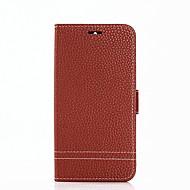 billiga Mobil cases & Skärmskydd-fodral Till Huawei Y6 (2017)(Nova Young) Y5 III(Y5 2017) Korthållare Plånbok med stativ Lucka Fodral Ensfärgat Hårt PU läder för Huawei